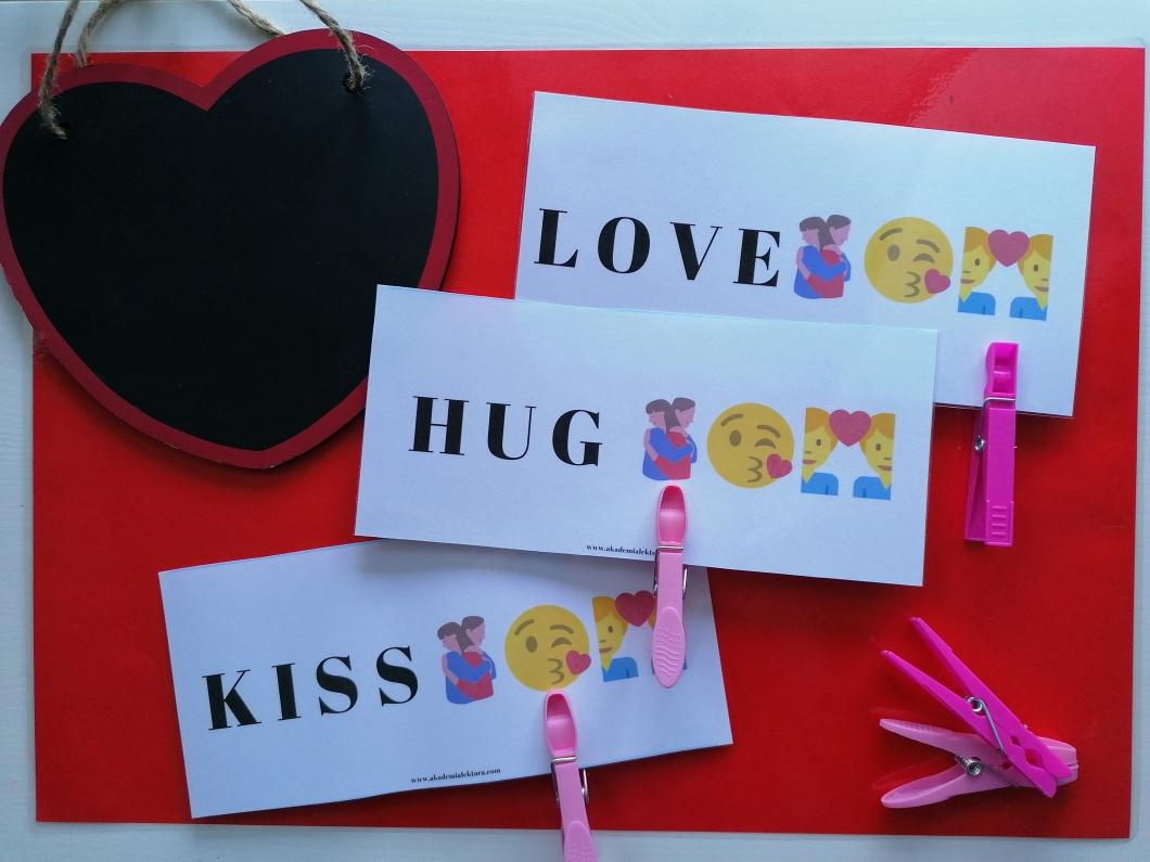 valentine's word cards