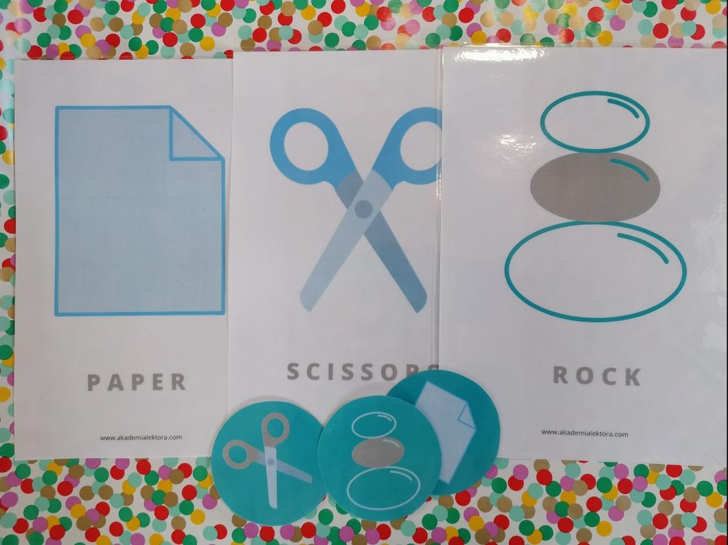 materiały rock scissors paper