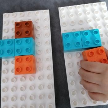 układanka lewopłkulowa lego