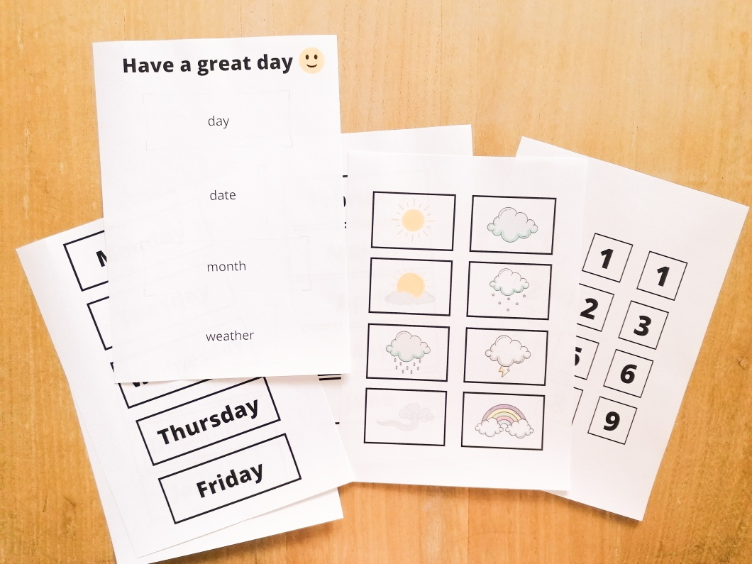 english class calendar